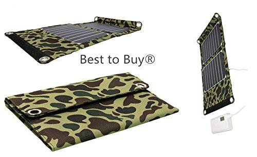 Best to Buy® Nice design High Efficient 12W Foldable Solar Panel Portable Solar Charger (USB Port + 5-18V DC Output) for iPhones, iPads, Samsung Galaxy Phones, Acer, Asus, Dell, HP, Toshiba, Lenovo Notebooks, Laptops and Many Other Devices