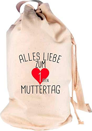 Shirtstown Sac à dos de voyage Motif amour pour la première fête des Mères, Adulte (unisexe), naturel, 30 cm x 53 cm x 30 cm