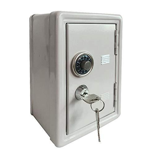 Alarmclocker8B Caja de Seguridad para el hogar,Mini Caja Fuerte de Metal,Hucha Creativa,Caja Fuerte Clave-marrón