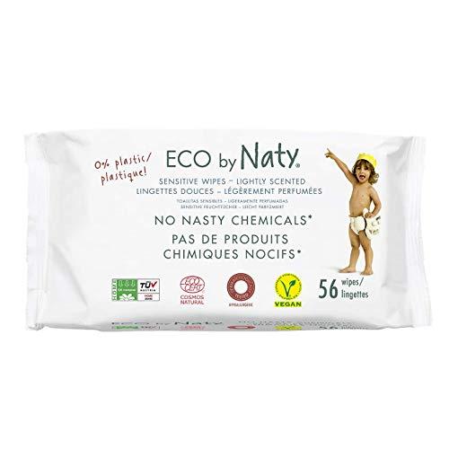 ECO by Naty Toallitas con Fragancia para bebé, 672 unidades (12 paquetes de 56), Toallitas húmedas compostables hechas a base de fibras vegetales, 0% plástico, sin sustancias nocivas