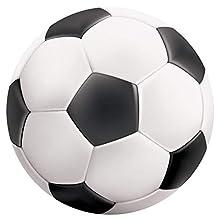 Alfombra de Vinilo Redonda Balón de Fútbol 100x100 cm Ideal para Zona de Juegos en Dormitorio Infantil y Juvenil Moqueta Vinílica de 2 mm de Grosor Fácil Limpieza
