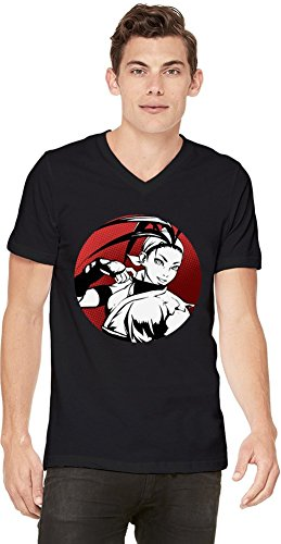 Ibuki Graphic Illustration T-shirt col V pour hommes Small