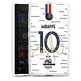 DeinDesign Silikon Hülle kompatibel mit Microsoft Lumia 435 Case Schutzhülle Mbappe Nationalspieler Nationalmannschaft