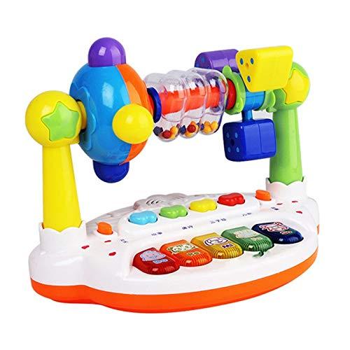 WJTMY Música para niños, Teclado, Tocadiscos, sonajero, bebé, educación temprana, máquina de Cuentos, Aprendizaje de Piano, Rompecabezas, Parque, Juguetes para bebés (Color : B)