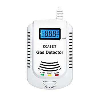 Combination Natural Gas and Carbon Monoxide Detector Plug in 2-in-1 Co Detector and Combustible Gas Detector,Propane,LPG,Gas Leak Detector for Kitchen/Home,UL2034