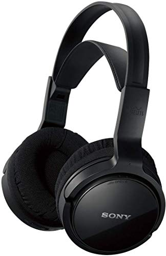 Sony MDR-RF811RK Cuffie TV Wireless Over-Ear, Portata 100 Metri, Batteria fino a 13 Ore, Nero