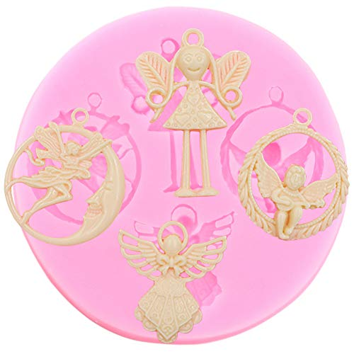 HUIZHANG 3D Angel Small Fairy Silicone Mold Cupcake TopperDIY Party Cake Decorating Tools Cookie Baking Chocolate Candy Molds