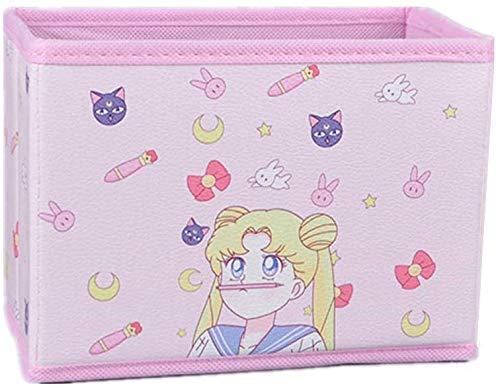 Cartoon Storage Box, Cute Japan Anime Sailor Moon Tsukino Usagi Model Figure Desktop Storage Box Case Makeup Holder Organizer for Kids Girls Gift (Cute)