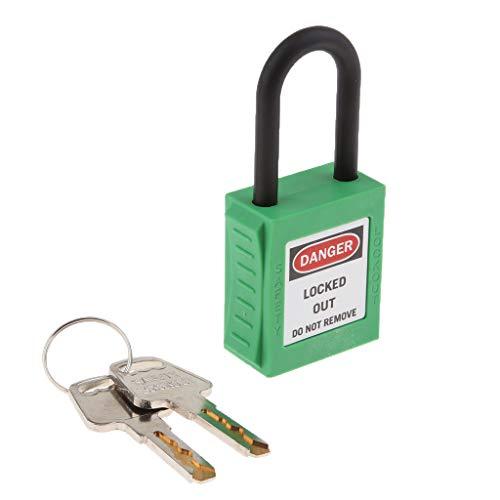 Homyl Alta Seguridad Candado Resistente con Alargado para Puerta Escuela Gimnasio Pool Locker Maletín Caja de Herramientas PL 38-KD 38mm PVC - Verde