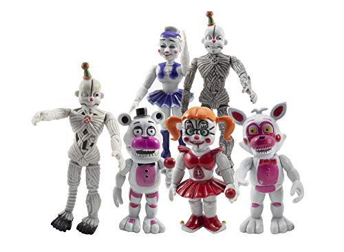 KD Toys Set of FNAF Figures Sisters 6 pcs. (4-6 inches).