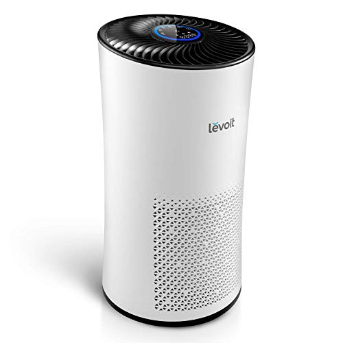 Levoit Air Purifier for Home Large Room with True HEPA Filters, Auto Mode, Sleep Mode, Timer, 3 Speeds, Ozone Free, Filter Change Reminder, Air Filter for Dust, Pollen, Pet, Smoker, Allergen, LV-H133