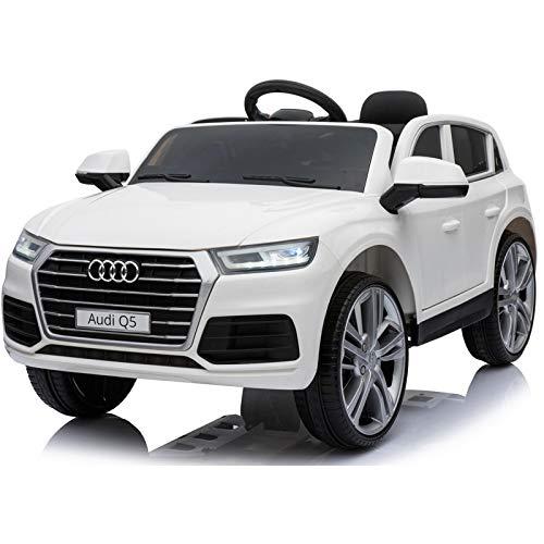Audi Q5 Licenciado 12v - Blanco - Coche eléctrico para niños Audi Q5 con Licencia Oficial. Nueva versión 2020