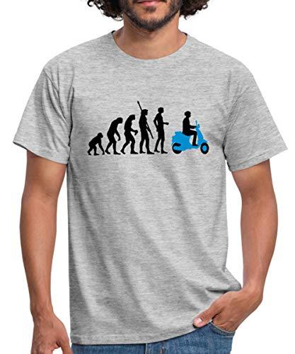 Evolution Vespa Männer T-Shirt, M, Grau meliert