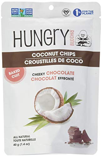 "(3) Hungry Buddha Coconut Chips ""Cheeky Chocolate"" 1.4 oz bags"