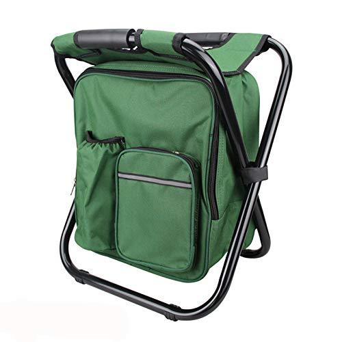 Hboy, zaino da campeggio portatile multifunzionale pieghevole zaino da pesca con sgabello ultraleggero impermeabile all'aperto zaino sedia, verde