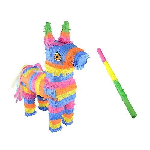 Motto.h Piñata Viñeta Sweet Party,Piñata viñeta Feliz cumpleaños Juego de Accesorios de Pull Piñata Pastel de cumpleaños Ideal para Fiestas y Cumpleaños Elegant