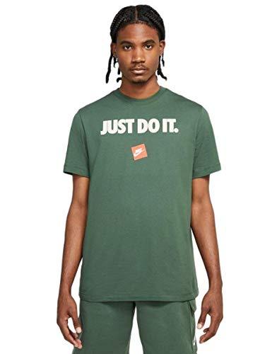 Nike NSW Tee Just DO IT 12 Month Galactic T-Shirt Uomo Verde, M