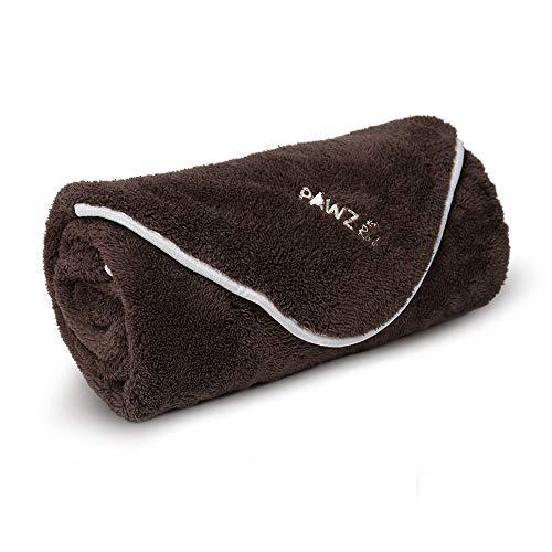 PAWZ Road Manta para Perros Suave Cálida Manta de Felpa Gruesa con Forro Polar, Suave y cálido para Perros y Gatos café (M 78X104 CM)