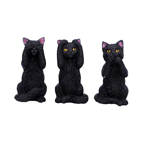 Nemesis Now Three Wise Felines 8,5 cm, Color Negro