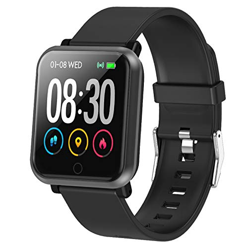 Fitness Tracker Smart Watch with Heart Rate Monitor Fit Tracker Waterproof Activity Tracker with Step Counter Fit Watch Sleep Monitor Step Counter for Men and Women