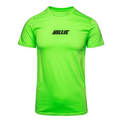 Billie Eilish Oficjalne logo Racer & BLOHSH T Shirt (jasnozielony)