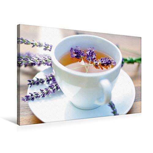 Calvendo Lifestyle Premium Textile Canvas 75 cm x 50 cm Landscape Lavender Tea Wall Picture on Stretcher Frame