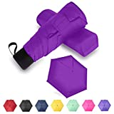 GAOYAING Travel Mini Umbrella Sun&Rain Lightweight Totes Small and Compact Suit for Pocket Purple