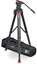 Sachtler FSB 10 T FT MS System with flowtech 100 Tripod, Mid-Level Spreader, Rubber Feet and Padded Bag