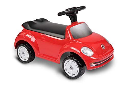 ROLLPLAY Aufsitzfahrzeug mit Sound, Foot-to-Floor, Für Kinder ab 1 Jahr, Bis max. 20 kg, VW Beetle, Rot