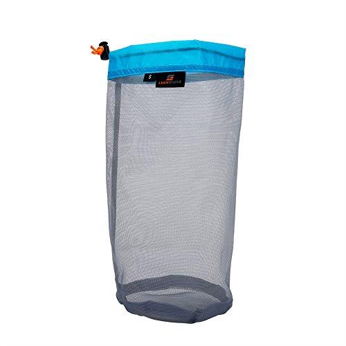Saco de Almacenamiento de Malla, Bolsa de Almacenamiento de Material de Malla Saco de organizar para Acampar Viajar Senderismo(XL-Azul)