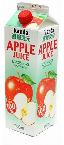 神田食品研究所 アップルジュースパック(果汁100%) 1L 1L 1本
