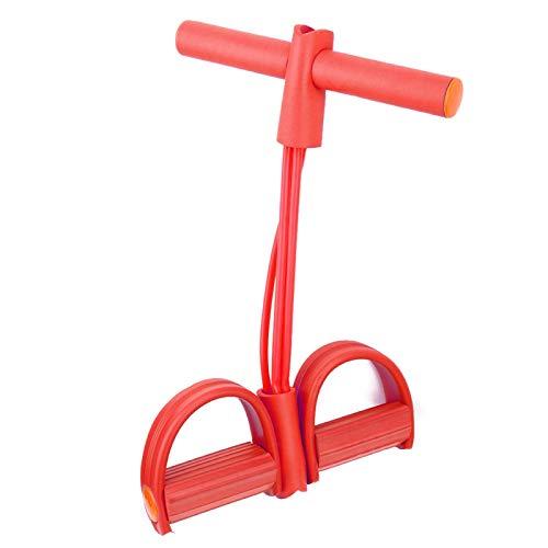 Salaty Cuerda de tracción, Banda de Resistencia de Pedal de Entrenador elástico, Cuerda de tracción de Pedal(Look Around in Red OPP Bags)