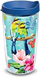 Tervis Bright Bird Pattern Insulated Tumbler with Wrap and Lid, 16 oz - Tritan, Clear