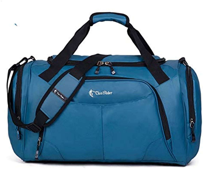 Sport blau Gym Bag Frauen Mnner für das Fitness-Training Schulter Handtaschen Tasche Yoga Tasche Gepck 51x25x31cm blau