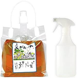 植物油由来成分からできた濃縮自然派洗剤「えがおの力(旧松の力)」2L濃縮/ 半透明スプレーボトル500mlセット