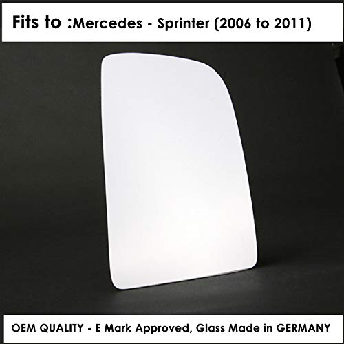 Round type fitting Right Hand Side Door Mirror Glass Convex For MERSD-Sprinter Year 2011 To 2018