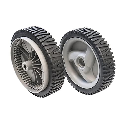 WELOVEHOME (2 Pack Lawn Mower Front Drive Wheels Replaces Craftsman Husqvarna 194231X460 583719501 Oregon 72-344 (Dark Grey)