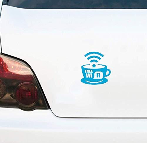 Autosticker met wifi-teken, voor vrachtwagens, koelkast, muur, openbare plaatsen, 15 x 16 cm, voor auto, laptop, raam, sticker