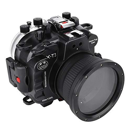 Vbestlife Cámara submarina Funda de Buceo para Fuji X-T3,40M / 130ft Caja Impermeable de cámara sin Espejo con Anillo de Enfoque de 16-50mm 18-55mm