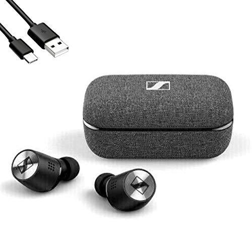 Sennheiser(ゼンハイザー) / MOMENTUM True Wireless 2 Bluetooth対応 完全ワイヤレスイヤホン ノイズキャンセリング + 0.5m Cタイプ 予備充電ケーブル セット … (BLACK) [並行輸入品]
