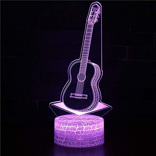 Kreative 3D USB Nachtlicht Verrückte Musik Rock Band E-Gitarre Bass Musikinstrument Modell Illusion Schreibtisch Tischstempel LED Nachtlicht Kinder Geschenk Dekoration