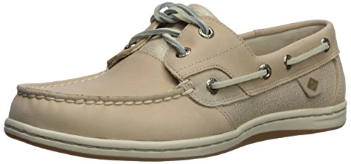 Sperry Women's Koifish Sparkle Boat Shoe, Linen, 7.5 Medium US