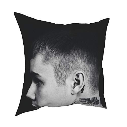 Justin Bi-eber - Cojín para silla de 50,8 x 50,8 cm, se puede utilizar en cualquier habitación y dormitorio.
