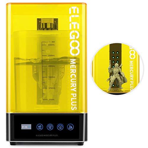 ELEGOO Mercury Plus 2 in 1 macchina per lavaggio e polimerizzazione per modelli LCD/DLP/SLA stampati in 3D Scatola di polimerizzazione UV in resina