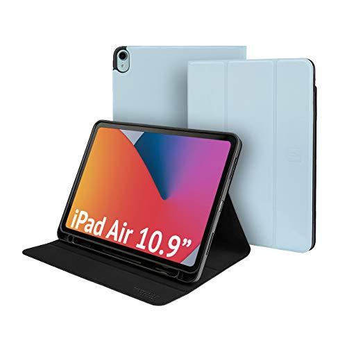 Funda para iPad Air de 10.9 pulgadas (2020) y iPad Pro de 11 pulgadas ultrafina, con cubierta frontal, soporte para Apple Pencil integrado, soporte para lectura, escritura, universidad, trabajo remoto