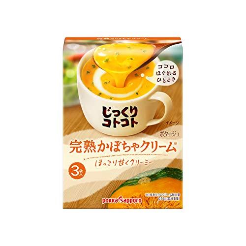 ポッカサッポロ じっくりコトコト 完熟かぼちゃクリーム 箱 3袋入×30個