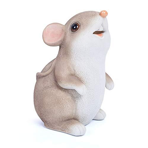 Z-Y hucha huchas cerdito Año de la rata del ratón hucha realista ratón hucha Decoración niños Juguetes de simulación Cajas de dinero