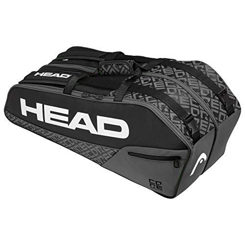 HEAD Core 6R Combi - Bolsa para raqueta de tenis, 6 piezas, color negro y gris