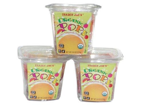 Trader Joe#039s Organic Pops Lollipops 56 Oz Pack of 3