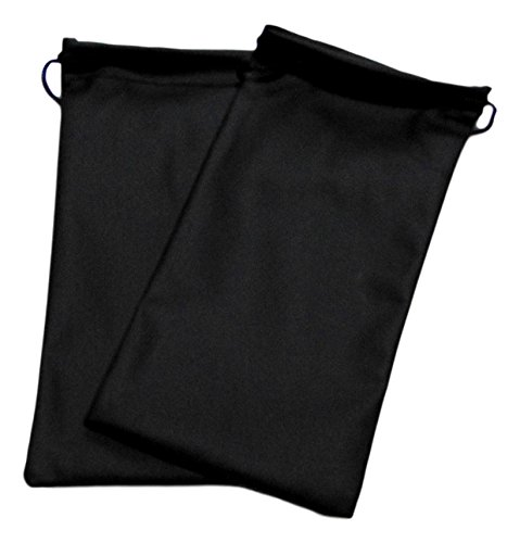 2x Sunglasses Pouches Spectacles Glasses Pouch Case Wallet Drawstring Bag Black